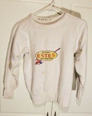 Vintage 1950's Child's Estes Rocket Fleece Sweatshirt