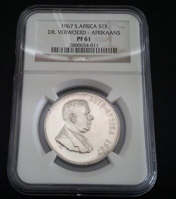 1967 South Africa Silver 1 Rand Proof Coin NGC