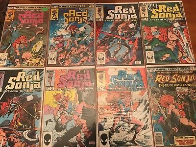 RED SONJA SHE-DEVIL WITH A SWORD 8 Issue Comic Lot 1 2 3 4 7 9 10 15 Marvel