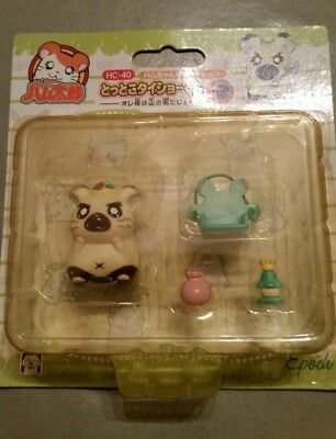 Brand New Vintage Epoch Japan Hamtaro hamster Boss with accessories HC-40