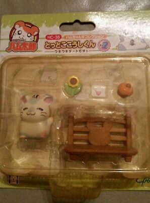 Brand New Vintage Epoch Japan Hamtaro hamster Oxnard with accessories HC-38