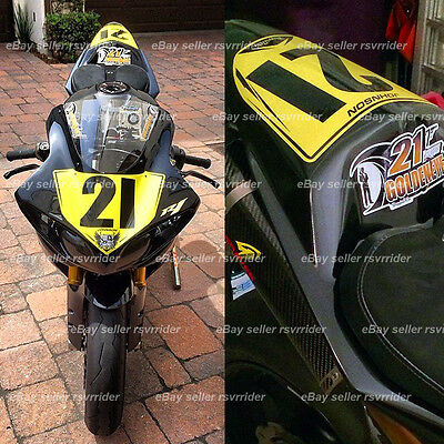 trackday or race numberplate decal sticker set fits a bmw  s1000rr 09-14