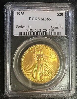 1926 $20 PQ++ LUSTROUS Saint-Gaudens Gold Double Eagle PCGS MS-65 FAB BEAUTY!!!