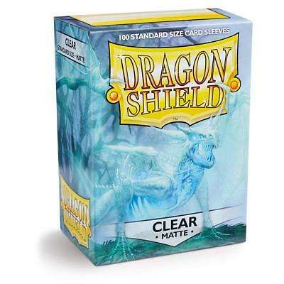 Dragon Shield Matte Clear 100 Deck Protective Sleeves in Box, Standard Size for