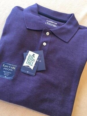 8c0b1898 Big & Tall Mens Easy Care Pique Polo Shirt - Purple Iris Heather - 4XB
