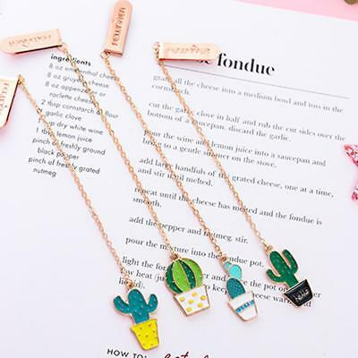 Creative Cactus and Fried Egg Pendant Bookmark Stationery School Office BIN