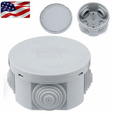 Round Waterproof Junction Box Plastic Electric Enclosure Case 65X35mm/80X40mm US