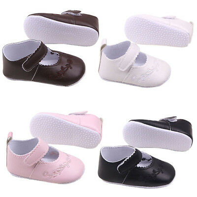Infant Baby Kid Girl PU Leather Soft Sole Princess Crib Shoes Newborn to 12Month