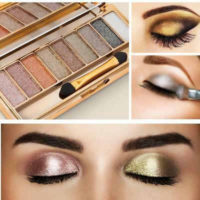 9 Colors Glitter Eyeshadow Palette & Makeup Cosmetic Brush Set Gift #1~6