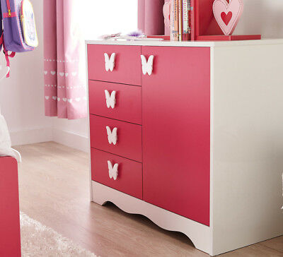 NEW Princess Dresser Pink By Fantastic Furniture
