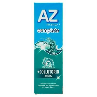 Az dentifricio complete + collutorio whitening 75 ml