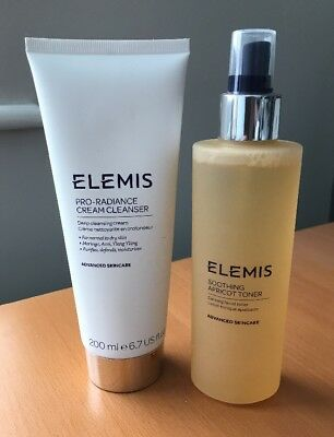 Elemis Pro-Radiance Cream Cleanser 200ml and Soothing Apricot Toner 200ml