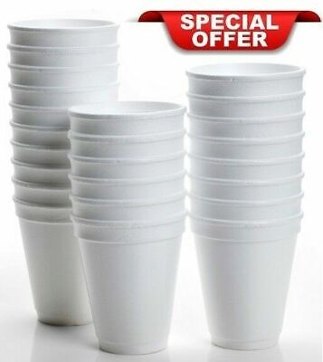 Dart White Foam Polystyrene Disposable Cups -Tea ,Coffee,Party - Free Delivery!!
