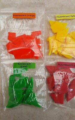 Candle Wax Dye Dyes 4x10g fluorescent  chips dye Flakes For Paraffin /Soy wax
