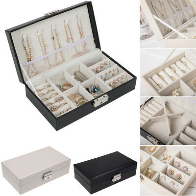 AU Portable Jewelry Box Organizer Velvet Jewellery Ornaments Case Storage 2018