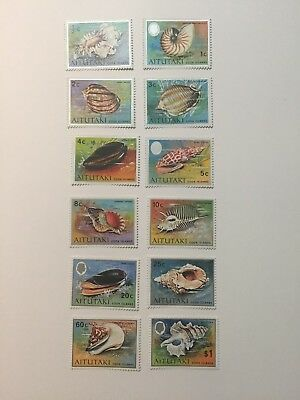 1974 Aitutaki postage stamps SG97-108, incomplete mint set