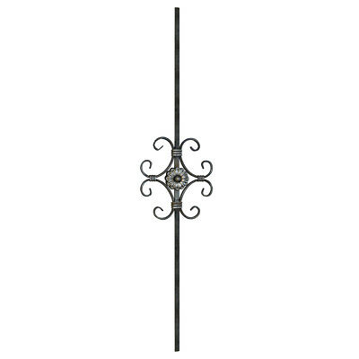 Leaf Iron Stair Spindles for any balustrade type twist and curl arrangement
