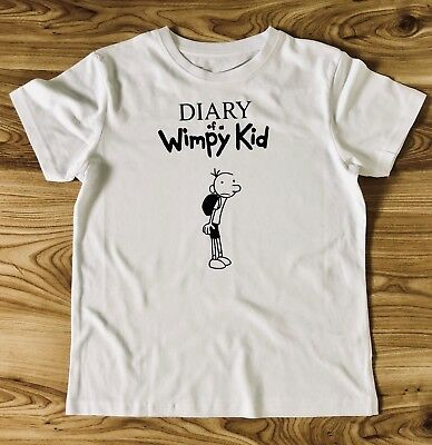 951c5f357 World Book Day Outfit Costume Diary of a Wimpy Kid Inspired Personalised T  shirt