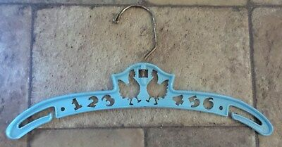 Vintage 1950's? Baby Infant Toddler Clothes Hanger Blue, 123456 Chickens Design