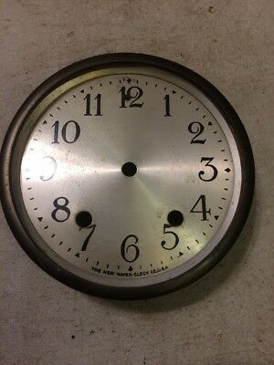 New Haven Tambour Mantle Clock Dial And Bezel With No Glass