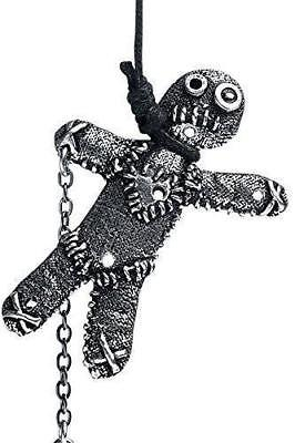 Alchemy Voodoo Doll Pendant Necklace Gothic Folk Magic Pagan Witch Pewter GIFT