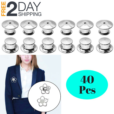 Lapel pins keepers locking back holder secure jacket vest shirt hat office bag