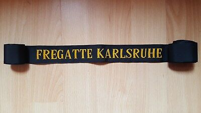 German Military Navy Cap Tally - Fregatte Karlsruhe
