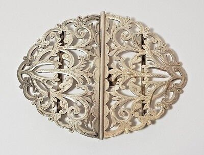 ANTIQUE SOLID SILVER ART NOUVEAU NURSES BELT BUCKLE William Oliver 1900