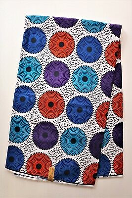 African Print Fabric Cotton Wax Printed Fabric sold by the yard (n)