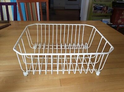 Bon Vintage Rubbermaid White Dish Rack Coated Wire SINK RACK Used Deep