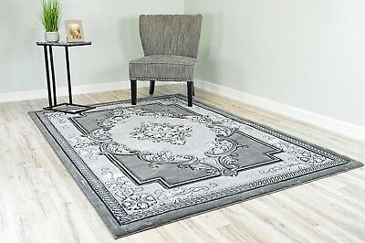 GLAMOUR 3D Effect Lush Hand Carved Traditional Oriental Floral Persian Area Rug