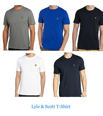 Lyle and Scott Brand New Men's Short Sleeve Crew Neck T-Shirt 100% Cotton