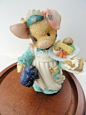 """This Little Piggy """"Mary"""" *SERVING UP THE SLOP*! BY ENESCO 1995 Cute"""
