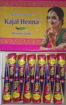 WHOLESALE PRICE ! ORGANIC KAJAL DARK BROWN Henna BRIDAL Mehndi Cones* 100% FRESH