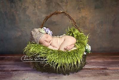 Faux Mongolian Fur photography prop, Newborn prop, Basket Stuffer, Layer