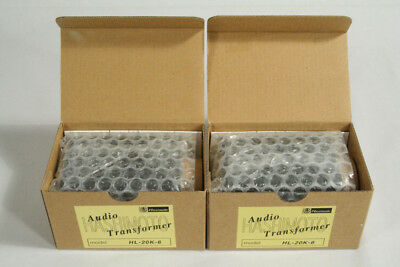 A Pair of Hashimoto Line Input/Output Transformers HL-20K-6 20K : 150/600 Ohms