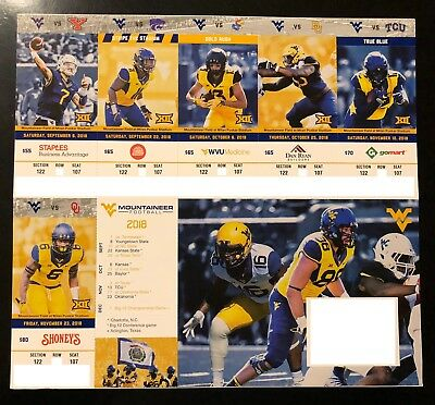 2018 West Virginia Mountaineers Football Collectible Ticket Stub - Any Home Game