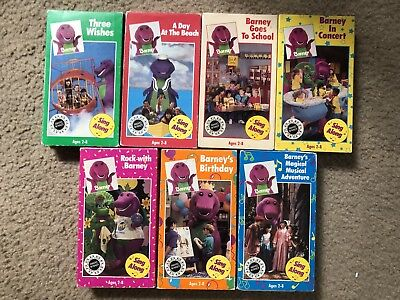 Barney & The Backyard Gang Barney In Concert barney & the backyard gang vhs lot (three wishes, day at the beach