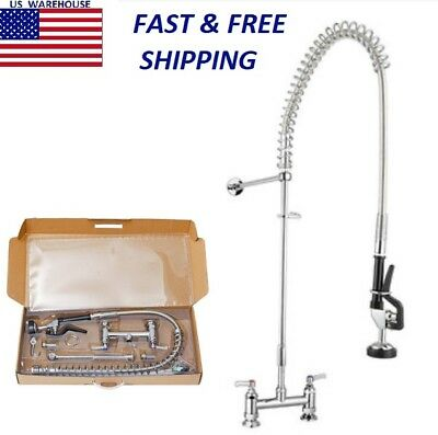 Commercial Kitchen Copper Pre Rinse Faucet with 8 Inch Add-On Faucet Sink Mixer