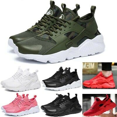 UK Mens Teens Running Trainers Lace Up Flat Comfy Fitness Gym Sports Shoes Size
