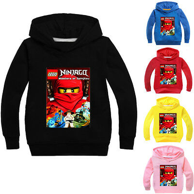 Boys Girls NINJAGO Kids Cartoon Sweatshirts Hoodies Spring Fall Casual Clothing