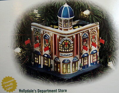 Dept 56 Christmas In The City Hollydales Department Store Ornament 56.98782 Mint
