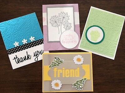 3 Handmade Stampin Up Greeting Cards All Occasion Masculine