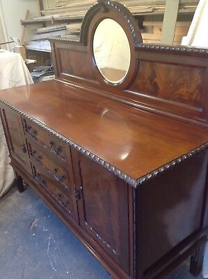Antique Victorian  Mahogany Buffet Sideboard