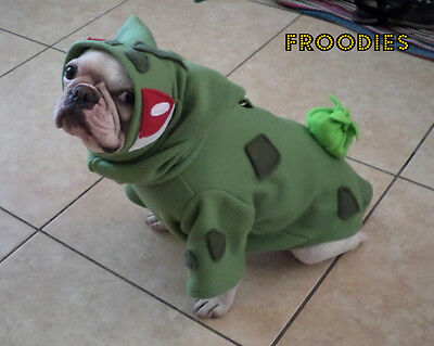 French Bulldog Boston Terrier Pug Froodies Hoodies Costume Pokemon Bulbasaur