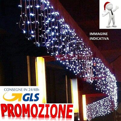 Tenda Luminosa Natalizia TENDA NATALE LUCI 6m x 50 cm 200 led PROLUNGABILE