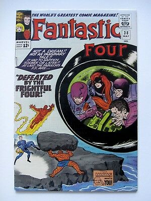 Fantastic Four #38 7.5 VF-  Silver Age Marvel Comic Book Medusa Stan Lee Kirby