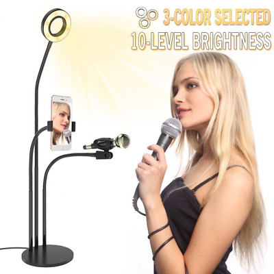 Selfie Ring Light with lazy bracket Microphone Holder & Cell Phone Arm Holder