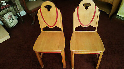 Art deco style Solid Maple Chairs found in Point Pleasant NJ