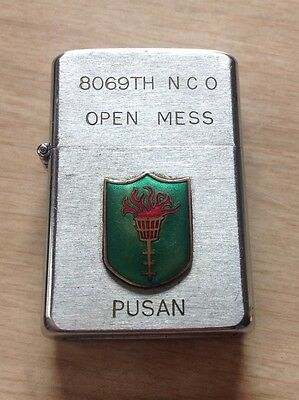 Authentic US Army 8069th N.C.O Open Mess Pusan Lighter (Named) circa 1950's